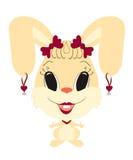 Rolig kaninflicka Arkivbild