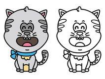 rolig katt stock illustrationer