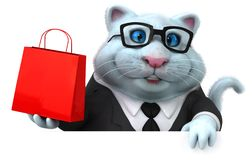 Rolig katt - illustration 3D stock illustrationer