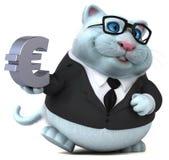 Rolig katt - illustration 3D stock illustrationer