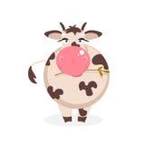 rolig ko också vektor för coreldrawillustration Arkivbild