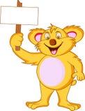 rolig koala för tecknad film Fotografering för Bildbyråer