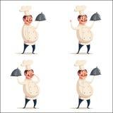Rolig kock, gulligt tecken missbelåten illustration för pojketecknad film little vektor Royaltyfri Bild