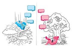 Rolig konversation för textmeddelande Vektor Illustrationer