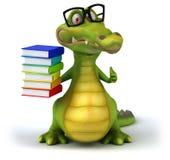 Rolig krokodil royaltyfri illustrationer