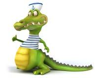 Rolig krokodil vektor illustrationer
