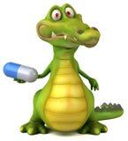 Rolig krokodil stock illustrationer