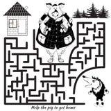 Rolig labyrint Vektorrebus Royaltyfri Bild
