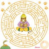 Rolig labyrintlek för barn Arkivbilder