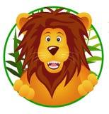 rolig lion för tecknad film Fotografering för Bildbyråer