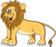 rolig lion för tecknad film Royaltyfri Fotografi
