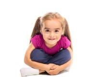 Rolig liten flicka Fotografering för Bildbyråer
