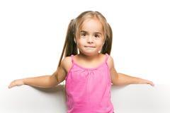 Rolig liten flicka Arkivbild