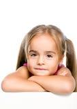Rolig liten flicka Royaltyfria Foton