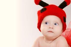 Rolig liten flickastående Fotografering för Bildbyråer