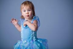 rolig liten princess royaltyfria bilder