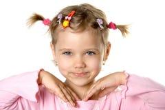 rolig look för ca-barn som är nätt till Arkivbild