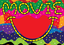 rolig lottfilm för eps royaltyfri illustrationer