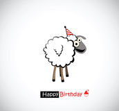 Rolig lycklig födelsedag vektor illustrationer