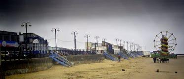 Rolig mässa för Cleethorpes strand Royaltyfri Fotografi