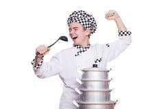 Rolig manlig kock Arkivfoto
