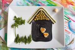 Rolig mat för barn Arkivfoton