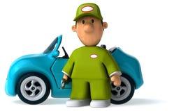 Rolig mekaniker - illustration 3D Arkivfoto