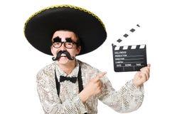 Rolig mexikan med film royaltyfri foto