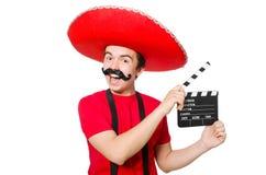 Rolig mexikan med film royaltyfria bilder