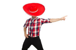 Rolig mexikan med sombreron fotografering för bildbyråer
