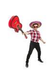 Rolig mexikan med sombreron arkivfoton