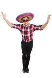 Rolig mexikan med sombreron royaltyfri fotografi