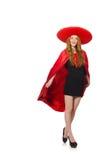 Rolig mexikan med sombreron royaltyfri foto