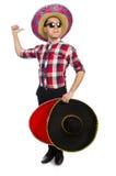 Rolig mexikan med sombreron royaltyfria bilder