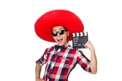 Rolig mexikan med sombreron royaltyfria foton