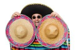 Rolig mexikan som isoleras på vit royaltyfri foto