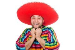 Rolig mexikan som isoleras på vit royaltyfri bild