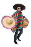 Rolig mexikan som isoleras på vit arkivbild
