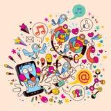 Rolig mobil telefon Arkivfoton