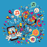 Rolig mobil telefon Royaltyfri Foto