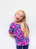 Rolig nätt ung flicka Fotografering för Bildbyråer