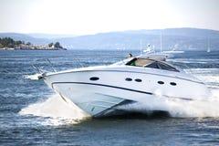 rolig norsk yacht för 4 fjord Arkivbilder