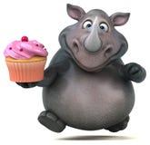 Rolig noshörning - illustration 3D Royaltyfri Bild