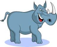 rolig noshörning för tecknad film Arkivfoton