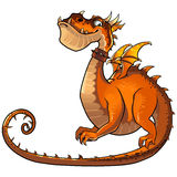 Rolig orange drake Arkivfoto