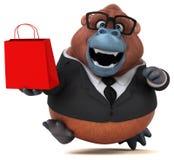 Rolig orangutang Outan - illustration 3D stock illustrationer