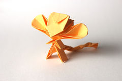 Rolig origamiapa Royaltyfria Foton