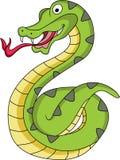 rolig orm för tecknad film Arkivfoto