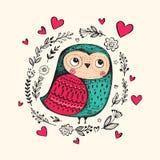 rolig owl Arkivbild