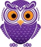 rolig owl för tecknad film Fotografering för Bildbyråer